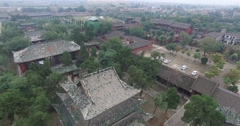 Aerial view of Chinese Ancient Architecture of Shanxi Stock Footage