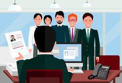 Hiring Recruiting Interview Piirros