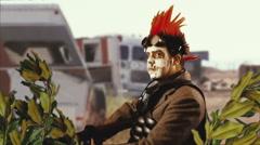 Apocalpytic man madmax warrior future Stock Footage