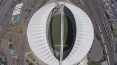 Aerial view of the top of Moses Mabhida Stadium  Stock Footage