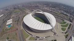 Aerial view of Moses Mabhida Stadium  Stock Footage
