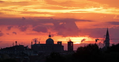 Time Lapse of Venice with buildings seen at sunrise Stock Footage