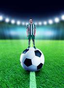 Mini player - stock photo