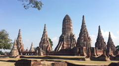 Time Lapse of archaeological site at Wat Chaiwatthanaram Ayutthaya Thailand - stock footage