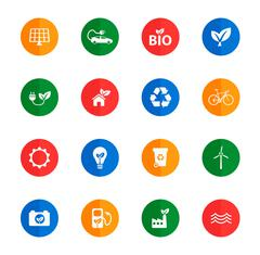 Stock Illustration of Alternative energy simply icons