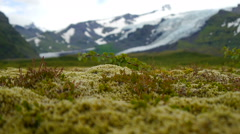 Icelandic landscape. Panorama of the mountains in Iceland Stock Footage
