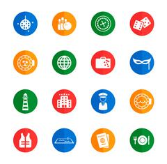 Cruise simply icons - stock illustration