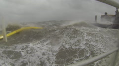 Hurricane Storm Surge and Winds in slow motion Stock Footage