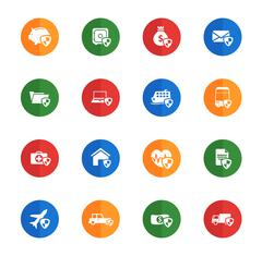 Insurance simply icons Stock Illustration