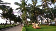 Vung Tau city enbankment Stock Footage