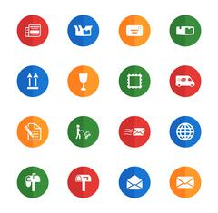 Post service simply icons Stock Illustration