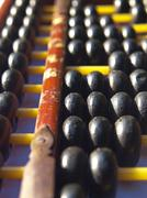 Vintage wooden abacus Stock Photos