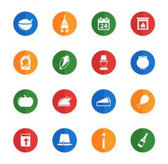 Thanksgiving simply icons Stock Illustration