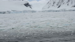 Pack ice field, Antarctica Stock Footage