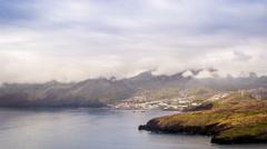 Canical, view from Ponta de Sao Lourenco, Madeira, Portugal Stock Footage