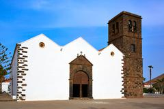 La Oliva church Fuerteventura at Canary Islands - stock photo