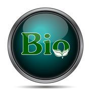 Bio icon. Internet button on white background.. Stock Illustration