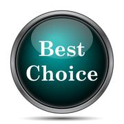 Best choice icon. Internet button on white background.. - stock illustration