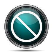 Forbidden icon. Internet button on white background.. - stock illustration