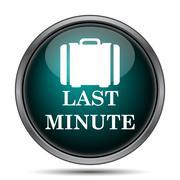 Last minute icon. Internet button on white background.. - stock illustration