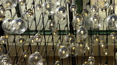 Decorative illumination of a plurality of lamps. Stock Footage