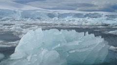 Sea of ice, Avers Island, Antarctica Stock Footage