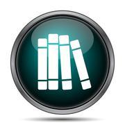 Books library icon. Internet button on white background.. - stock illustration