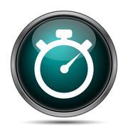 Timer icon. Internet button on white background.. - stock illustration