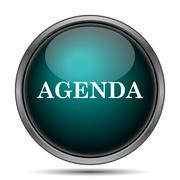 Agenda icon. Internet button on white background.. - stock illustration
