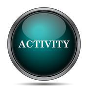 Activity icon. Internet button on white background.. - stock illustration