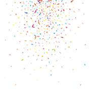 Abstract colorful confetti background. Isolated on the white. Vector holiday  Stock Illustration