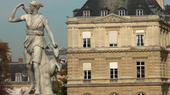Luxembourg Palace in Paris. France. Stock Footage