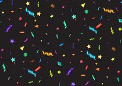 Abstract colorful confetti background. Isolated on the black. Vector holiday  - stock illustration
