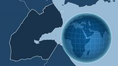 Djibouti and Globe. Solids Stock Footage