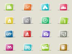 Active recreation icon set - stock illustration