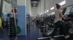 Minsk, Belarus - May 5, 2015: Gym - 2 Stock Footage