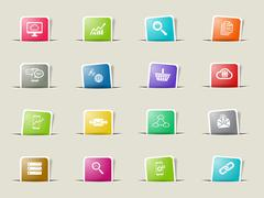 Data analytic simply icons Stock Illustration