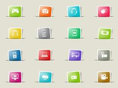 Gadgets simply icons - stock illustration