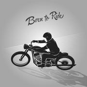 Born to ride biker Stock Illustration