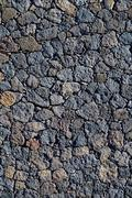 Black masonry with volcanic stones Fuerteventura Stock Photos