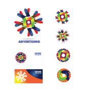 Advertising agency logo icon - stock illustration