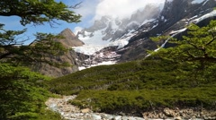 Torres del Paine national park. Patagonia, Chile Stock Footage