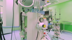 Equipment and medical devices in modern operating room Arkistovideo