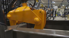 A newly made log grapple in a machine Stock Footage