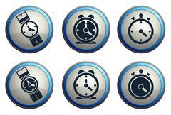 vector clocks icons - stock illustration