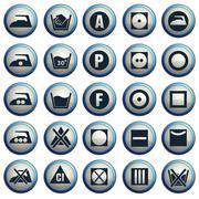 Laundry icons set Stock Illustration