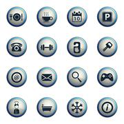 Hotel simply icons Stock Illustration