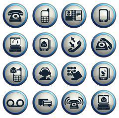 Telephone Icons icons - stock illustration