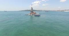 istanbul üsküdar kız kulesi - stock footage