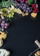 White wine and snacks Stock Photos